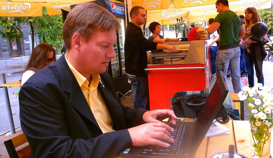 Johannes Wamberg Andersen in Kyiv, 08-24-2011