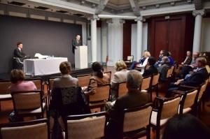 Conférence du Professeur Hamza à l'Institut Culturel Hongrois de Paris, octobre 2015