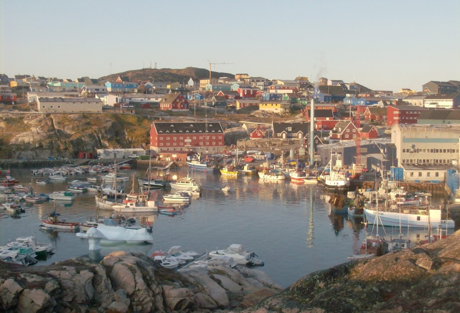 greenland harbour of ilulissat